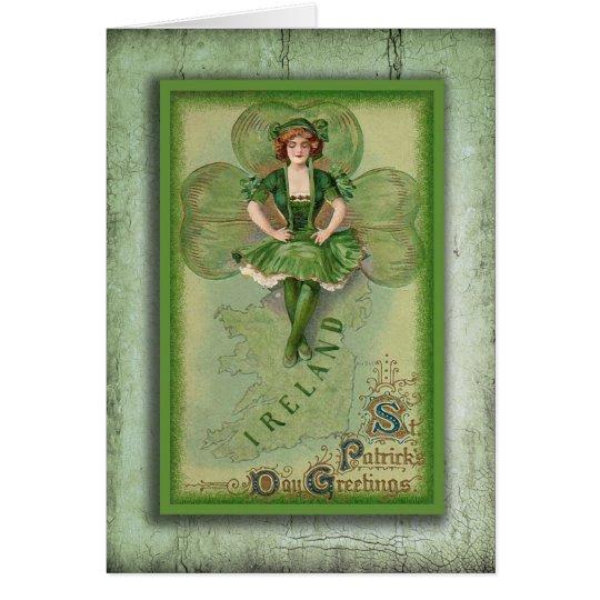 Vintage Ireland Card