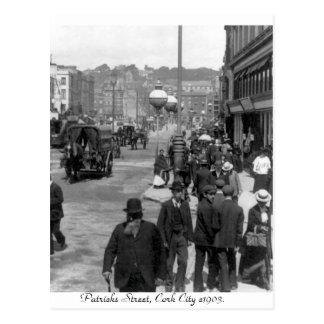 Vintage Ireland, Patrick's Street, Cork 1903 Postcard
