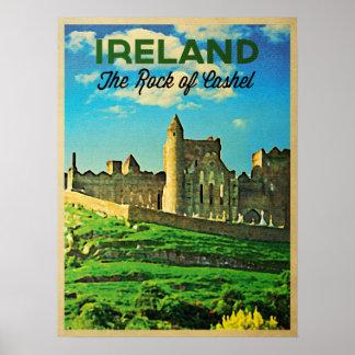 Vintage Ireland Rock Of Cashel Poster