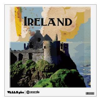 Vintage Ireland Travel Poster Wall Sticker