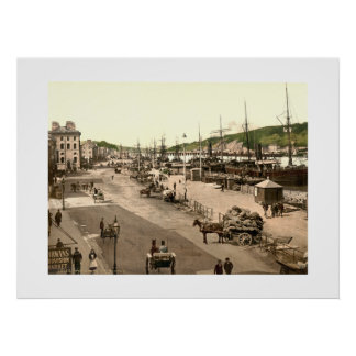 Vintage Ireland, Waterford City Quay Print