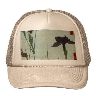 Vintage Iris Garden Ukiyo-e Japanese Painting Trucker Hat