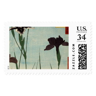 Vintage Iris Garden Ukiyo-e Japanese Painting Stamp