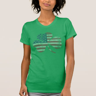 Vintage Irish American Flag Shamrock T-Shirt