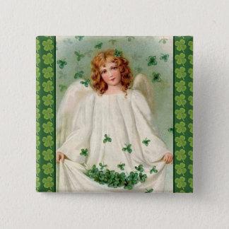 Vintage Irish Angel button