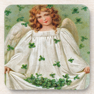 Vintage Irish Angel Coasters, Set Of 6 Coaster