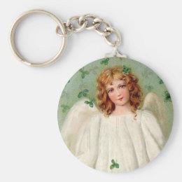 Vintage Irish Angel keychain