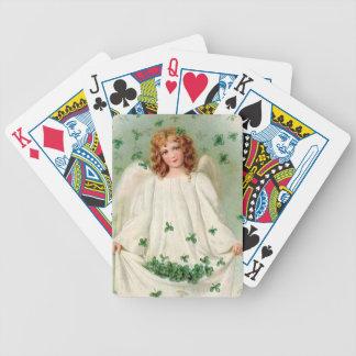 Vintage Irish Angel playing cards