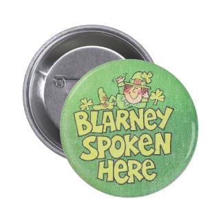 Vintage Irish Blarney Spoken Here Button