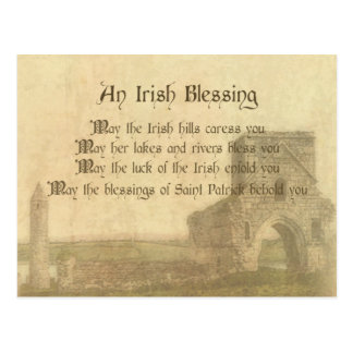 Vintage Irish Blessing Postcard