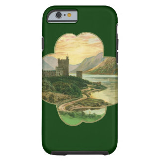 Vintage Irish Castle Inside a Lucky Gold Shamrock Tough iPhone 6 Case