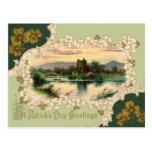 Vintage Irish Castle St. Patrick's Day Postcard