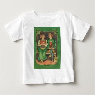 Vintage Irish Couple Potato St Patrick's Day Card Baby T-Shirt