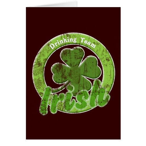 Vintage Irish Drinking Team Card