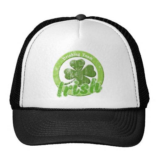 Vintage Irish Drinking Team Mesh Hats