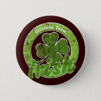Vintage Irish Drinking Team Pinback Button