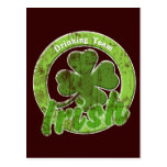 Vintage Irish Drinking Team Post Card