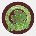Vintage Irish Drinking Team Stickers