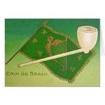 Vintage Irish Flag Harp of Erin St Patrick's Day C Card