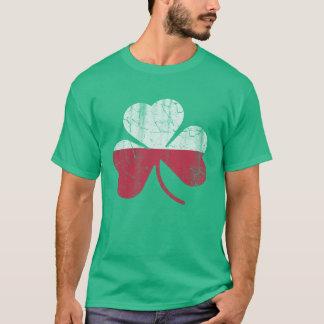Vintage Irish Flag of Poland Shamrock Heritage T-Shirt