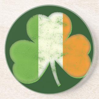 Vintage Irish Flag Shamrock Coaster