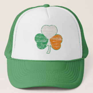 Vintage Irish Flag Shamrock Trucker Hat