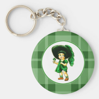 Vintage Irish Girl St. Patrick's Day Gift Keychain