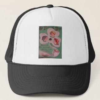 Vintage Irish Girls St Patrick's Day Card Trucker Hat
