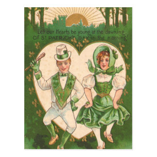 Vintage Irish Hearts St Patrick's Day Card