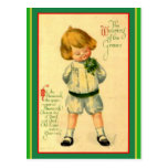 Vintage Irish Laddie - St. Patrick's Greeting Postcard