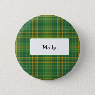 Vintage Irish plaid personlized button
