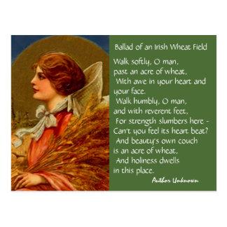 Vintage Irish Poetry St Patricks Day PC Postcards