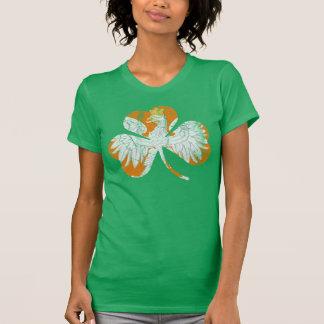 Vintage Irish Polish Eagle Heritage Shamrock T-Shirt