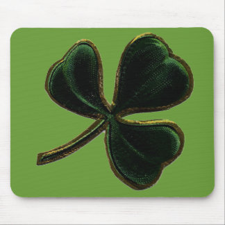 Vintage Irish Pride Shamrock Clover Mouse Pad