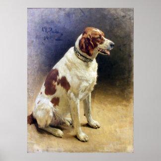 Vintage Irish Setter Painting Print