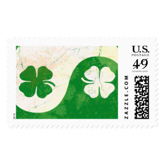 Vintage Irish Shamrocks Art Postage