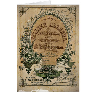 Vintage Irish Sheet Music Card