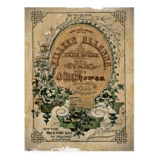 Vintage Irish Sheet Music Postcard