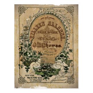 Vintage Irish Sheet Music Postcard