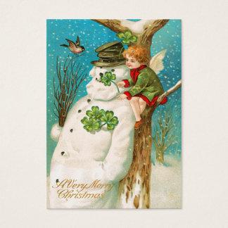 Vintage Irish Snowman Name Tags