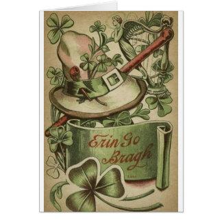 Vintage Irish Symbols St. Patrick's Day Card