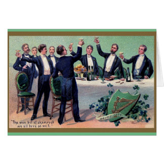 Vintage Irish Toast St. Patrick's Day Card