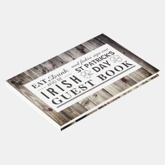 Vintage Irish Wood St Patrick's Day Guest Book