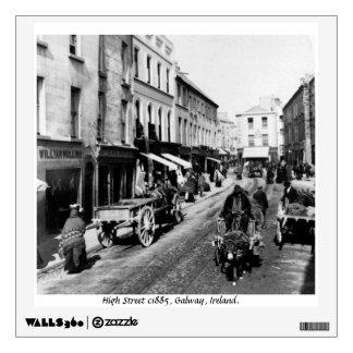 Vintage Irlanda, alto St, ciudad de Galway Vinilo Adhesivo