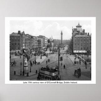 Vintage Irlanda, puente Dublín de O'Connell Poster