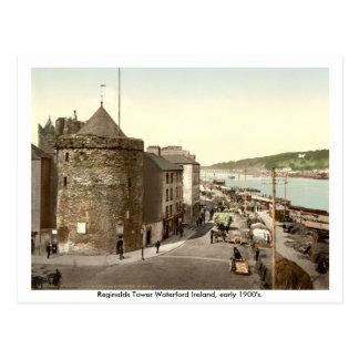 Vintage Irlanda, torre Waterford de Reginalds Postal