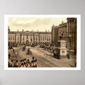 Vintage Irlanda, universidad Dublín verde Póster