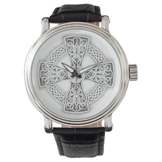 Vintage irlandés de la cruz céltica reloj