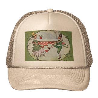 vintage irlandés de los bailarines gorras de camionero