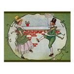 vintage irlandés de los bailarines postal